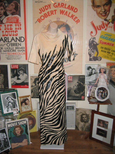 The legendary zebra gown from The Judy Garland Show, 1963/64